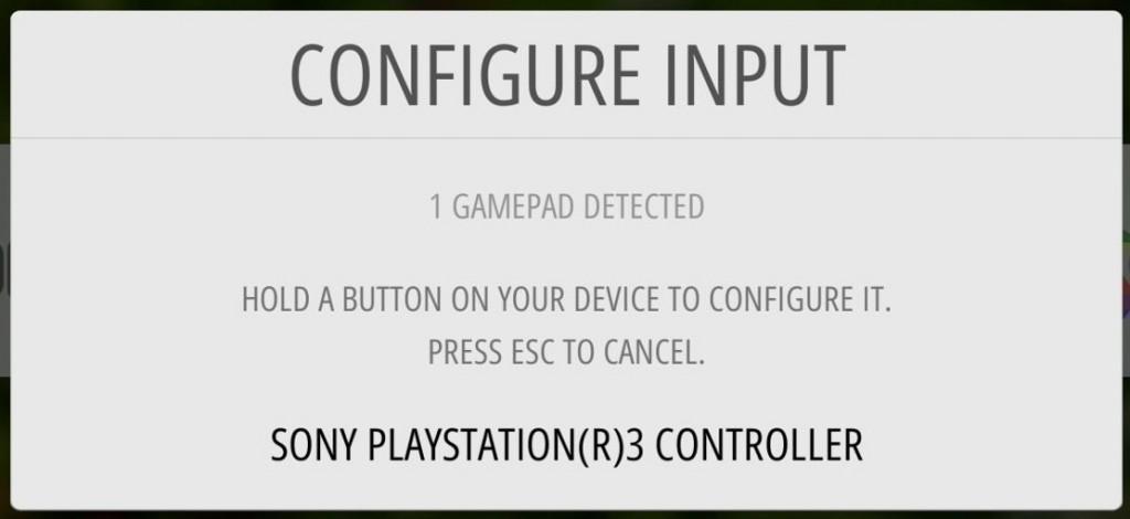 Der Controller wird in der EmulationStaion erkannt.