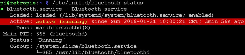 Bluetooth läuft