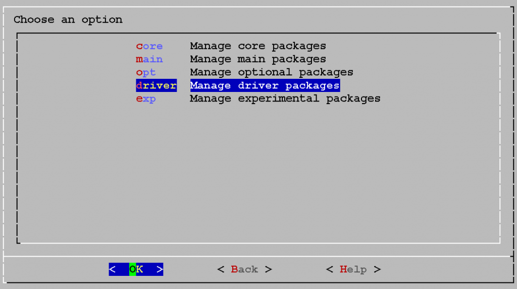 driver - Manage driver Packages