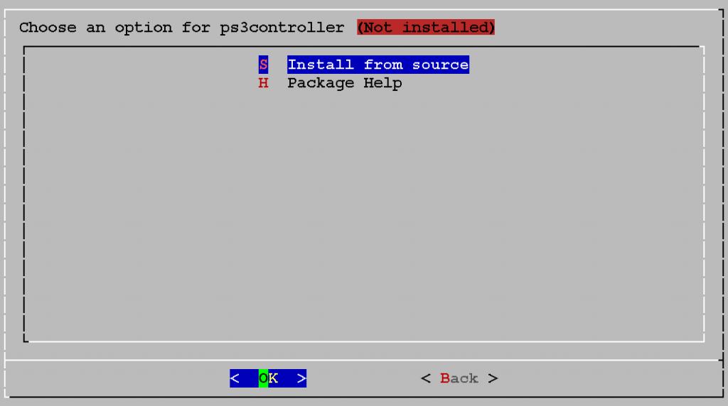 S - Install from source (falls der PS3-Treiber noch nicht installiert ist)