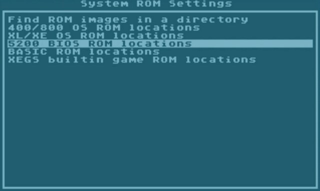 5200 BIOS ROM locations