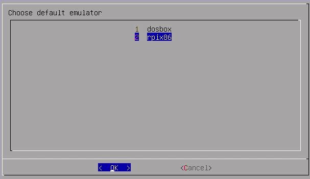 Emulatorauswahl