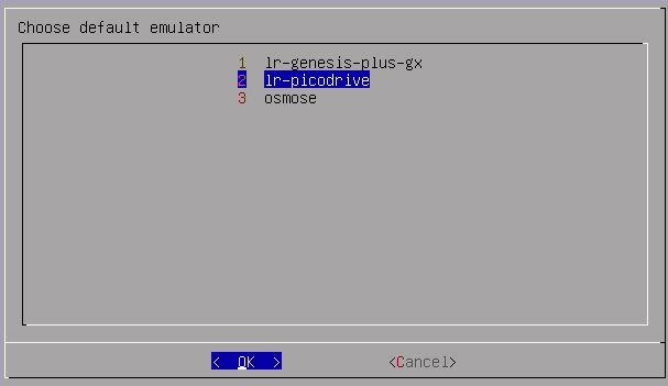 Die Master System Emulatoren.