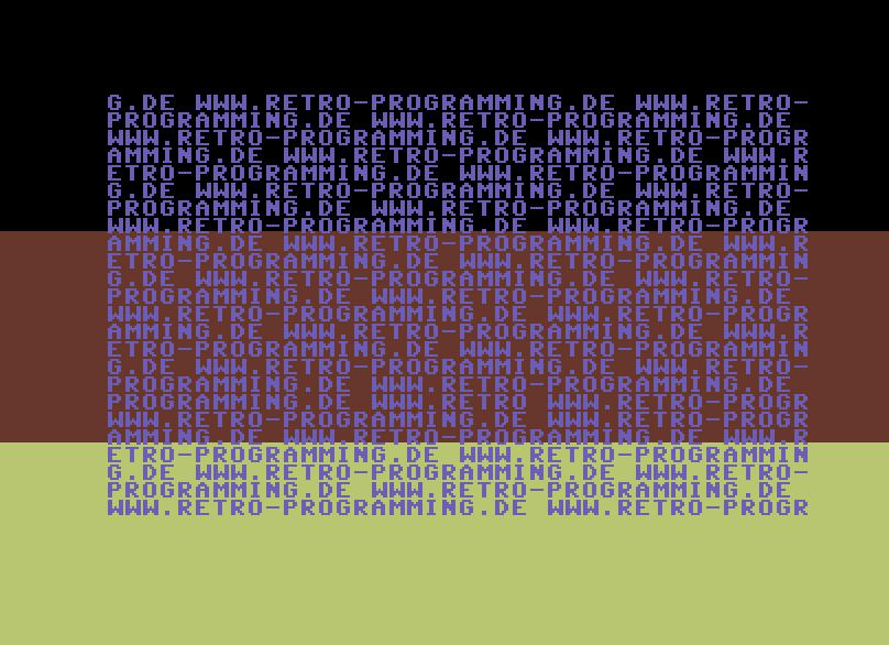 Das BASIC-Programm läuft neben dem Raster-IRQ.