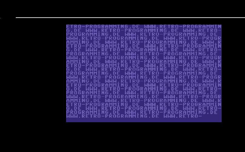 Der Befehl zum Setzen der Farbe wird direkt mit dem ersten Taktzyklus der Rasterzeile gestartet.