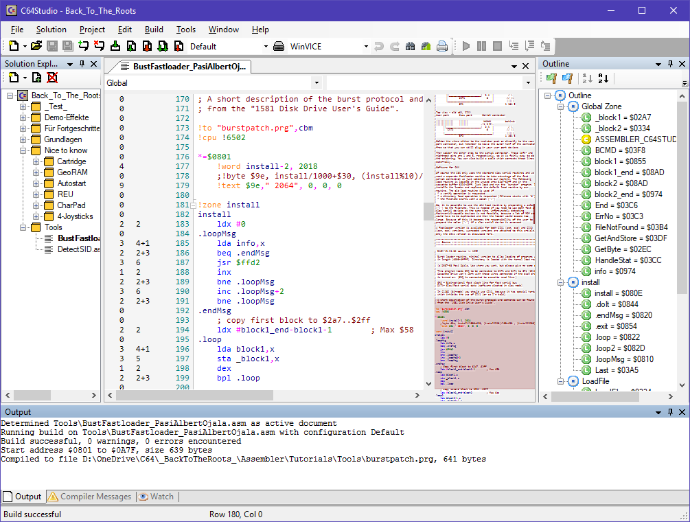 C64 Assemblerprogrammierung mit dem C64 Studio
