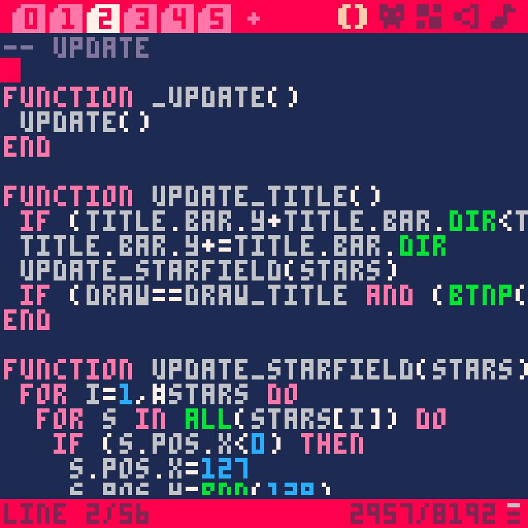 Der PICO-8 Quellcode-Editor